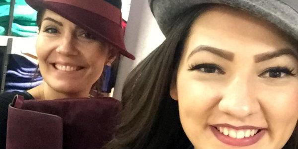 Hülya und Brikenda beim Shoppen fürs Fotoshooting