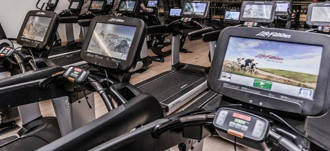 LifeFitness Laufbänder mit integrierten Display und virtuellen Strecken