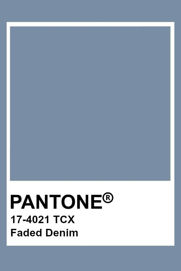 Pantone Faded Denim