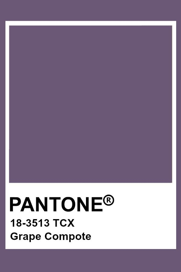 Pantone Grape Compote