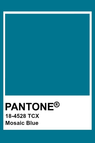 Pantone Mosaic Blue