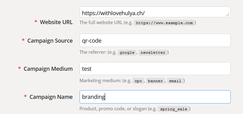 utm google campaign url builder | With Love, Hülya