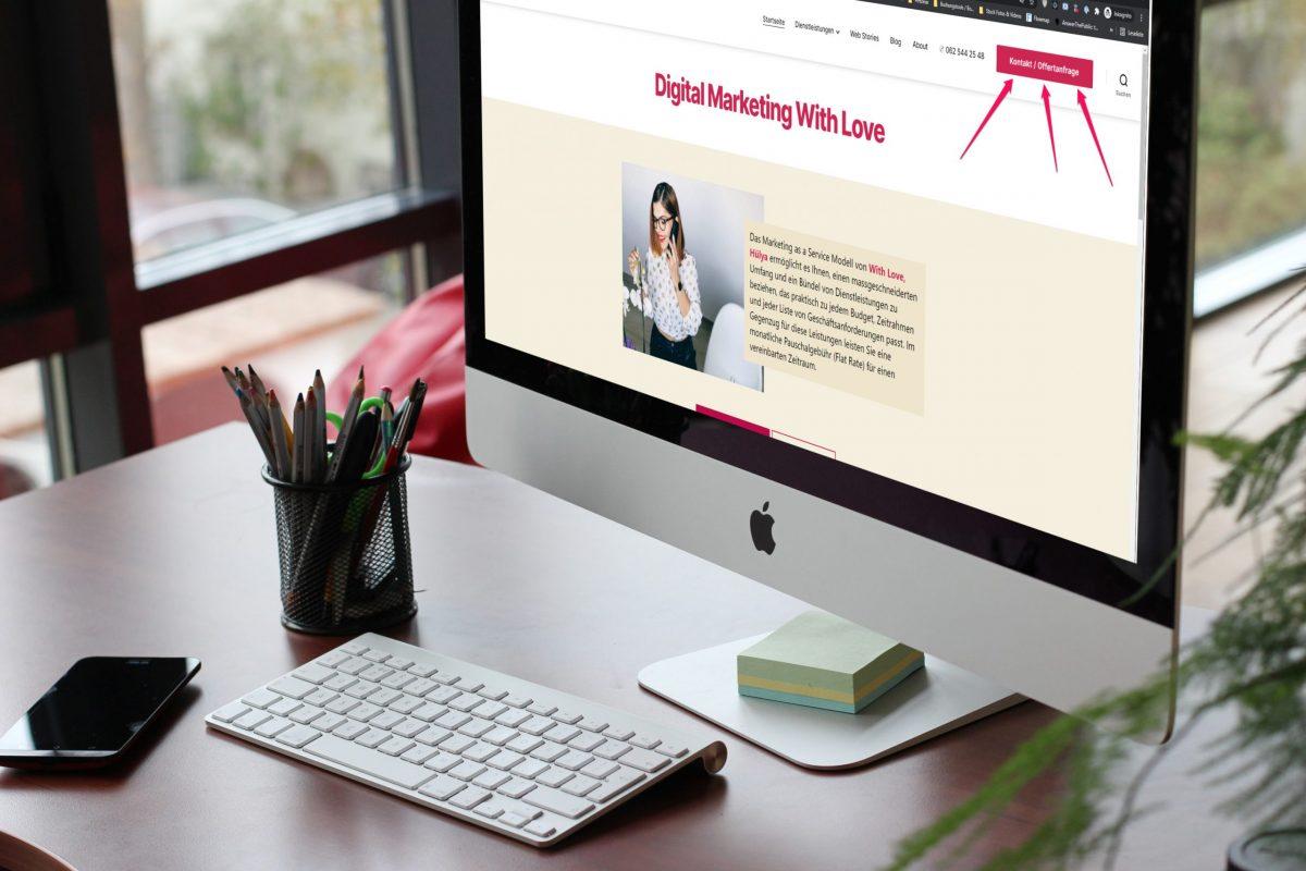 So fügen Sie einen Button in Ihr WordPress-Header-Menü ein | With Love, Hülya